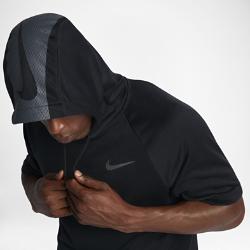 Мужская худи для тренинга с коротким рукавом Nike DryМужская худи для тренинга с коротким рукавом Nike Dry с карманом «кенгуру» на молнии и короткими рукавами покроя реглан — идеальный верхний слой для прогулок и тренировок на улице.<br>