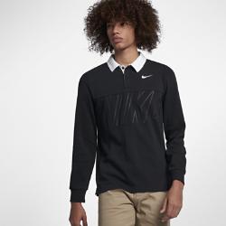 Мужская рубашка-поло с длинным рукавом для скейтбординга Nike SB Dri-FITМужская рубашка-поло для скейтбординга Nike SB Dry из влагоотводящего дышащего материала создана на основе винтажных поло для регби. Классический крой тканых моделей для регби с воротником и планкой на трех пуговицах создает стильный образ.  Отведение влаги  Технология Dri-FIT обеспечивает прохладу и комфорт, выводя влагу на поверхность ткани, где она быстро испаряется.  Полный комфорт  Плотная ткань пике с текстурированной поверхностью. Мягкие и эластичные манжеты из смесового материала на основе хлопка и спандекса.<br>