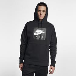 Мужская худи Nike SportswearМужская худи Nike Air сочетает баскетбольный стиль и современный уровень комфорта. Это отражают удлиненный силуэт и мягкий флис с оригинальной графикой AF1.<br>