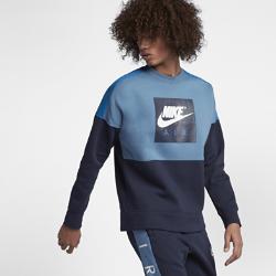 Мужской флисовый свитшот Nike AirМужской флисовый свитшот Nike Air свободного кроя из флиса с начесом на изнаночной стороне обеспечивает комфорт на весь день.<br>