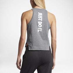 Женская майка JDI Nike SportswearСлегка укороченная женская майка JDI Nike Sportswear из мягкого хлопка обеспечивает комфорт на весь день. Широкие разрезы на кромке не ограничивают движений.<br>