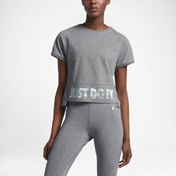 Женская футболка с коротким рукавом Nike SportswearСлегка укороченная женская футболка с коротким рукавом Nike Sportswear из мягкого хлопка обеспечивает комфорт на весь день.<br>