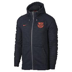Мужская худи с молнией во всю длину FC BarcelonaМужская худи с молнией во всю длину FC Barcelona из мягкой ткани френч терри с символикой команды сохраняет тепло и обеспечивает комфорт.<br>
