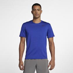 Мужская футболка для тренинга с коротким рукавом Nike Dri-FITМужская футболка для тренинга с коротким рукавом Nike Dri-FIT из влагоотводящей ткани с перфорацией на вставке на спине обеспечивает вентиляцию и комфорт во время тренировки.<br>