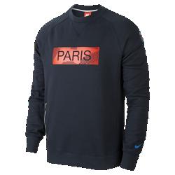 Мужская толстовка Paris Saint-Germain CrewМужская толстовка Paris Saint-Germain Crew из мягкого смесового хлопка обеспечивает тепло и комфорт.<br>