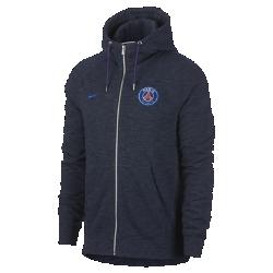 Мужская худи с молнией во всю длину Paris Saint-GermainМужская худи с молнией во всю длину Paris Saint-Germain из мягкой ткани френч терри с символикой команды сохраняет тепло и обеспечивает комфорт.<br>