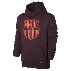Мужская футбольная худи FC Barcelona CrestМужская футбольная худи FC Barcelona Crest с подкладом из мягкого флиса с начесом и клубной символикой сохраняет тепло и обеспечивает комфорт трибунах и на улице.<br>