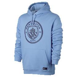 Мужская футбольная худи Manchester City FC CrestМужская футбольная худи Manchester City FC Crest с подкладом из мягкого флиса с начесом и клубной символикой сохраняет тепло и обеспечивает комфорт трибунах и на улице.<br>