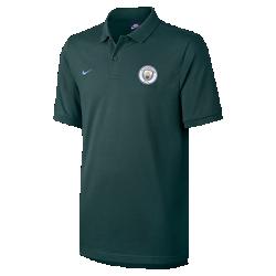 Мужская рубашка-поло Manchester City FCМужская рубашка-поло Manchester City FC с классическим профилем и символикой команды обеспечивает оптимальный комфорт на трибунах и на улицах города.<br>