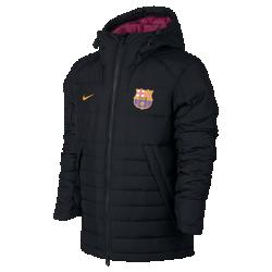 Мужская куртка FC BarcelonaМужская куртка FC Barcelona с пуховым наполнителем и регулируемым капюшоном обеспечивает тепло и дополнительную защиту в холодную погоду.<br>