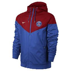 Мужская куртка Paris Saint-Germain Authentic WindrunnerМужская куртка Paris Saint-Germain Authentic Windrunner сохранила классические элементы оригинальной модели: шеврон на груди и прочную ткань, которая защитит тебя от непогоды во время игры и на улицах города.<br>