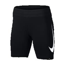 Женские шорты с логотипом Swoosh Nike SportswearЭластичные женские шорты Nike Sportswear с логотипом Swoosh обеспечивают комфорт на весь день. Плотная посадка позволяет надевать их под тунику или свободные брюки.<br>