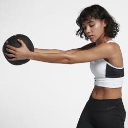 Спортивное бра Nike Swoosh PocketСпортивное бра Nike Swoosh Pocket из влагоотводящей ткани обеспечивает комфорт, а шесть скрытых карманов позволяют иметь под рукой все необходимые мелочи.<br>