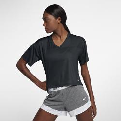 Женская футболка для тренинга с коротким рукавом Nike BreatheЖенская футболка для тренинга с коротким рукавом Nike Breathe из легкой влагоотводящей ткани обеспечивает охлаждение и комфорт.<br>