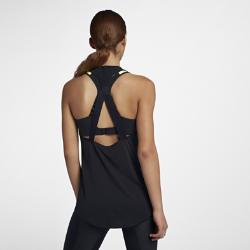 Женская майка для тренинга Nike Dri-FITЖенская майка для тренинга Nike Dri-FIT из влагоотводящей ткани с бретелями из дышащего материала обеспечивает охлаждение и комфорт во время тренировок.<br>
