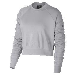 Женская футболка для тренинга с длинным рукавом NikeЖенская футболка для тренинга Nike из влагоотводящей ткани с укороченным кроем и длинными рукавами обеспечивает комфорт и отлично сочетается с другой одеждой.<br>