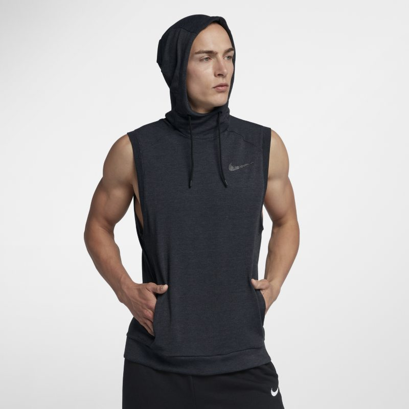 afcd3f2a4a7 Nike Dri-FIT Hooded Men s Sleeveless Training Top - Black Image