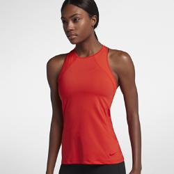 Женская майка для тренинга Nike Pro HyperCoolЖенская майка для тренинга Nike Pro HyperCool из сетки и эластичной ткани обеспечивает вентиляцию и комфорт во время тренировки.  Новая конструкция с плотной посадкой  Модели верха Nike Pro с абсолютно новым плотно прилегающим кроем обеспечивают комфорт и свободу движений. В ткани не применяются технологии компрессии, а посадка стала более свободной. Подробнее см. в таблице размеров.<br>