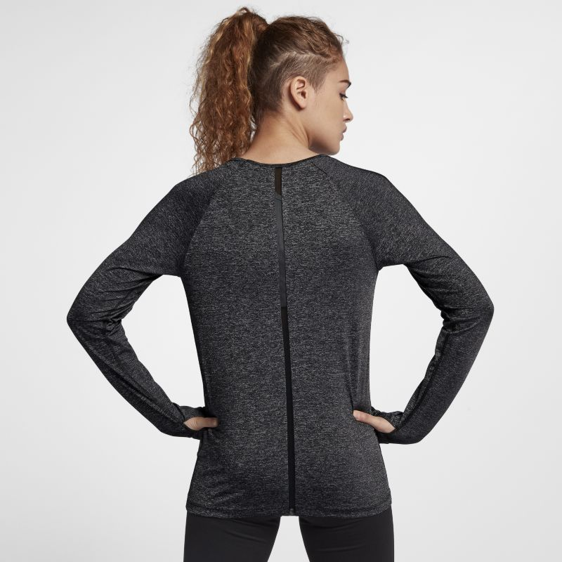 Nike Pro HyperCool Women's Long-Sleeve Training Top (Slim Fit) - Black Image