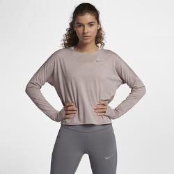 Женская беговая футболка с длинным рукавом Nike MedalistЖенская беговая футболка с длинным рукавом Nike Medalist из влагоотводящей ткани обеспечивает комфорт и свободу движений во время бега.<br>