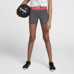Шорты для тренинга для девочек школьного возраста Nike Pro 10 смШорты для тренинга для девочек школьного возраста Nike Pro 10 см из легкой и дышащей ткани обеспечивают поддержку, позволяя чувствовать себя уверенно на тренировке и вовремя игры.<br>