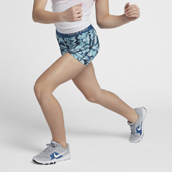 Шорты для тренинга с принтом для девочек школьного возраста Nike Pro 10 смШорты для тренинга с принтом для девочек школьного возраста Nike Pro 10 см из легкой и дышащей ткани обеспечивают поддержку, позволяя чувствовать себя уверенно на тренировке и во время игры.<br>