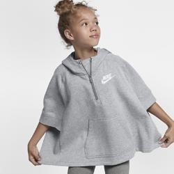 Пончо для девочек школьного возраста Nike SportswearПончо для девочек школьного возраста Nike Sportswear сохраняет тепло и обеспечивает свободу движений и полный комфорт благодаря флису с обратным начесом и очень свободной посадке.<br>