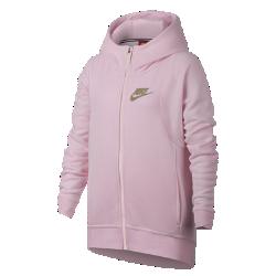 Худи для девочек школьного возраста Nike Sportswear ModernХуди для девочек школьного возраста Nike Sportswear Modern из мягкого флиса с усовершенствованной конструкцией обеспечивает тепло, комфорт и защиту в школе, на тренировках ив любой другой ситуации.<br>