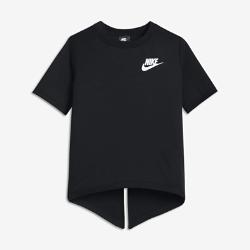 Футболка с коротким рукавом для девочек школьного возраста Nike SportswearФутболка с коротким рукавом для девочек школьного возраста Nike Sportswear с разрезом на спине позволяет регулировать уровень защиты и вентиляции.<br>