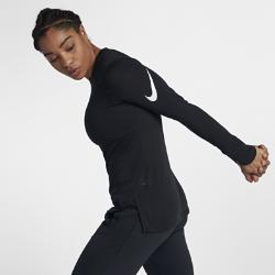 Женская баскетбольная футболка с длинным рукавом Nike Breathe EliteЖенская баскетбольная футболка с длинным рукавом Nike Breathe Elite из легкой влагоотводящей ткани обеспечивает охлаждение и комфорт.<br>