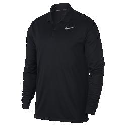 <ナイキ(NIKE)公式ストア>ナイキ Dri-FIT ビクトリー メンズ ロングスリーブ スタンダード フィット ゴルフポロ 891235-010 ブラック 30日間返品無料 / Nike+メンバー送料無料画像