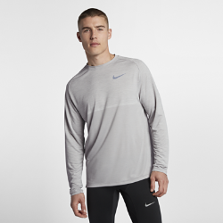 Мужская беговая футболка с длинным рукавом Nike MedalistМужская беговая футболка с длинным рукавом Nike Medalist из сетки и влагоотводящей ткани обеспечивает охлаждение и комфорт во время бега.<br>