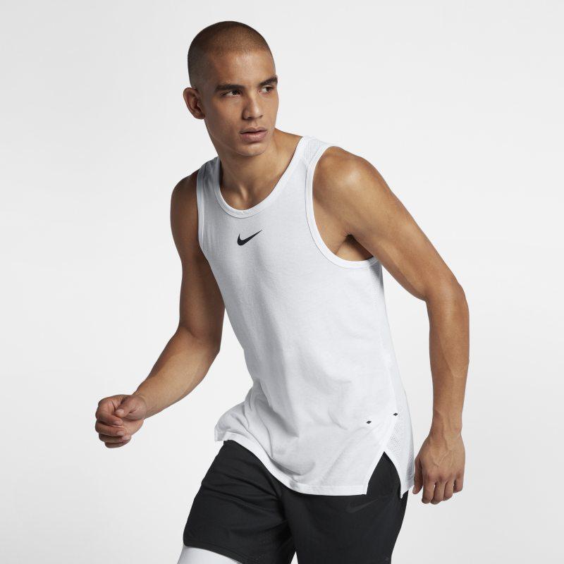 Nike Breathe Elite Kolsuz Erkek BasketbolÜstü  891711-100 -  Beyaz XL Beden Ürün Resmi
