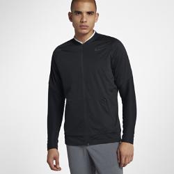Мужская куртка для гольфа Nike AeroLayerМужская куртка для гольфа Nike AeroLayer из материала с технологией AeroLayer и водоотталкивающим покрытием обеспечивает тепло и комфорт во время игры.<br>