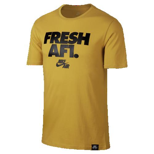 ナイキ エア Fresh AF1 メンズ Tシャツ 892154-747 ゴールド