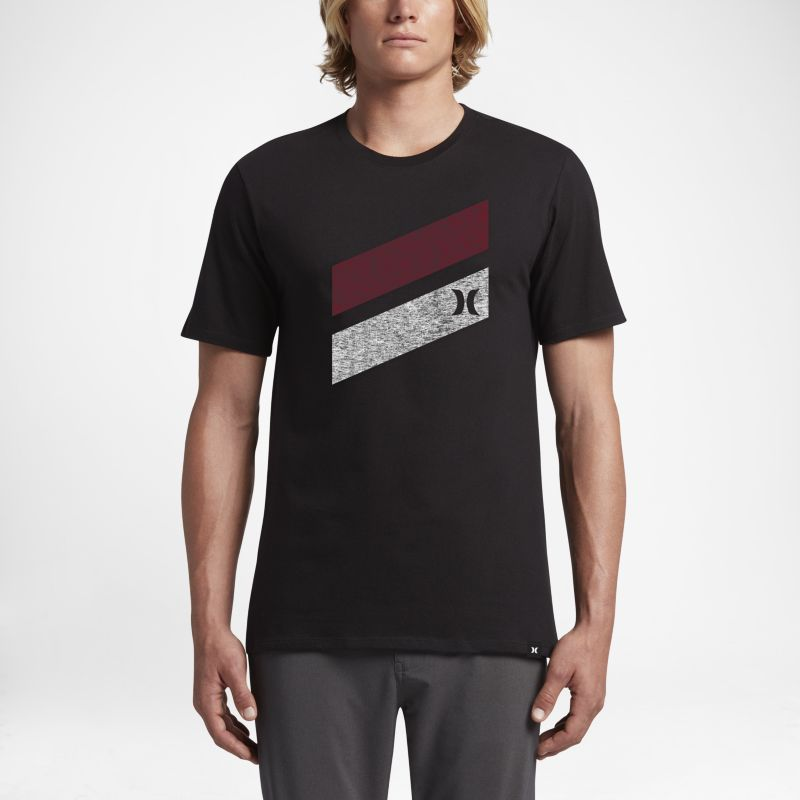 Nike Hurley Icon Slash Push Through Men's T-Shirt - Black Image