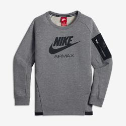 Свитшот для мальчиков школьного возраста Nike AirСвитшот для мальчиков школьного возраста Nike Air из невероятно мягкого флиса удерживает тепло и обеспечивает комфорт на весь день. Некоторые детали напоминают легендарную обувь Air Max.<br>