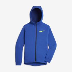 Худи для тренинга для мальчиков школьного возраста Nike Dri-FITХуди для тренинга для мальчиков школьного возраста Nike Dri-FIT из влагоотводящей ткани обеспечивает комфорт и защиту от непогоды во время прогулок и активных игр с друзьями.<br>