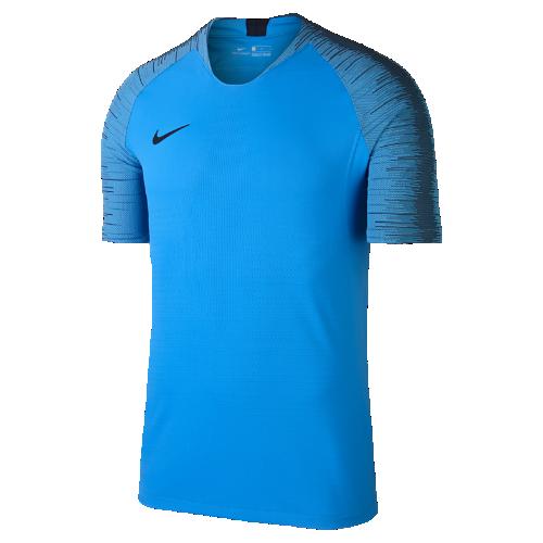ナイキ ヴェイパーニット ストライク メンズ ショートスリーブ サッカートップ 892888-469 ブルー <セール商品がさらに20%OFF!5/8まで>