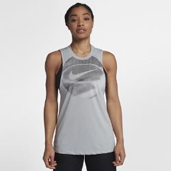 Женская баскетбольная майка Nike Dri-FITЖенская баскетбольная майка Nike Dri-FIT из влагоотводящей ткани с широкими проймами обеспечивает комфорт и свободу движений во время игры.<br>