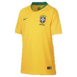 <ナイキ(NIKE)公式ストア>2018 ブラジル CBF スタジアム ホーム ジュニア サッカージャージー 893970-749 ゴールド ★30日間返品無料 / Nike+メンバー送料無料!画像