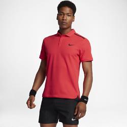 Мужская теннисная рубашка-поло NikeCourt Dry AdvantageМужская теннисная рубашка-поло NikeCourt Dry Advantage из мягкой влагоотводящей ткани с разрезами в нижней кромке обеспечивает комфорт и свободу движений во время игры.<br>