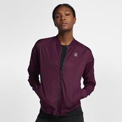 Женская теннисная куртка NikeCourt BomberЖенская теннисная куртка NikeCourt Bomber из тканого материала с влагонепроницаемым покрытием обеспечивает комфорт во время игры и на каждый день.<br>