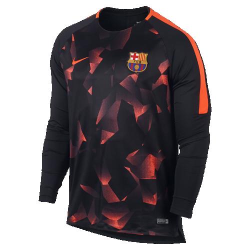 FC バルセロナ ドライ スクワッド メンズ ロングスリーブ サッカートップ 896991-014 ブラック <セール商品がさらに20%OFF!5/8まで>