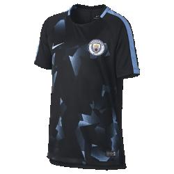 Игровая футболка с коротким рукавом для школьников Manchester City FC SquadИгровая футболка с коротким рукавом для школьников Manchester City FC Squad из легкой влагоотводящей ткани с анатомическими швами обеспечивает комфорт на поле и на трибунах.<br>