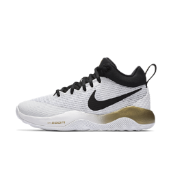 Женские баскетбольные кроссовки Nike Zoom RevЖенские баскетбольные кроссовки Nike Zoom Rev с дышащим динамичным верхом из сетки и подметкой с желобками созданы для легкости и скорости во время игры.&amp;#160;Вставка Nike Zoom Air обеспечивает адаптивную защиту от ударных нагрузок, а особая боковая часть — гибкость и сцепление.<br>