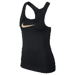 Женская майка для тренинга Nike ProЖенская майка для тренинга Nike Pro из эластичной влагоотводящей ткани с Т-образной спиной и вставками из сетки обеспечивает вентиляцию и свободу движений на каждой тренировке.<br>