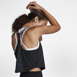 Женская майка для тренинга Nike Dry Elastika CroppedЖенская майка для тренинга Nike Dry Elastika Cropped с укороченным кроем отлично сочетается с другими предметами одежды, а влагоотводящая ткань обеспечивает комфорт во времятренировок.<br>