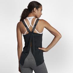 Женская майка для тренинга Nike Dri-FIT ElastikaУниверсальная женская майка для тренинга Nike Dri-FIT Elastika с разрезом в нижней кромке сзади усиливает циркуляцию воздуха. Кроме того, ее можно затянуть для более плотнойпосадки.<br>