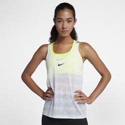 Женская майка для тренинга Nike Dry ElastikaУниверсальная женская майка для тренинга Nike Dry Elastika с разрезом в нижней кромке сзади усиливает циркуляцию воздуха. Кроме того, ее можно затянуть для более плотной посадки.<br>